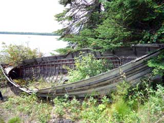 Historic fishing boat long since abandoned